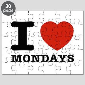 I Love Mondays Puzzle