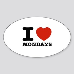 I Love Mondays Sticker (Oval)