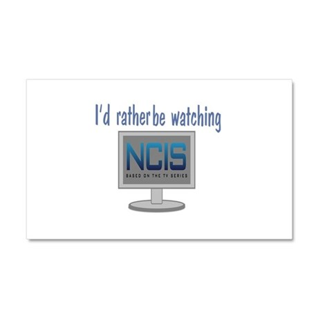 Rather Be Watching NCIS Car Magnet 20 x 12