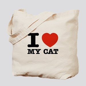 I Love My Cat Tote Bag