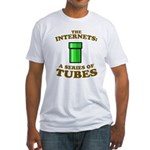 the internets: a series of tubes Fitted T-Shirt