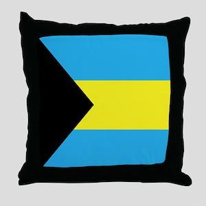 Bahamas Flag Throw Pillow