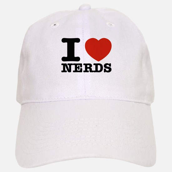 I Love Nerds Baseball Baseball Cap