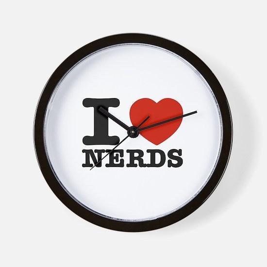 I Love Nerds Wall Clock