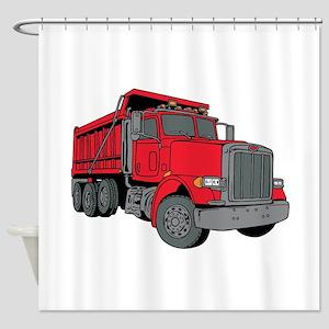 Big Red Dump Truck Shower Curtain