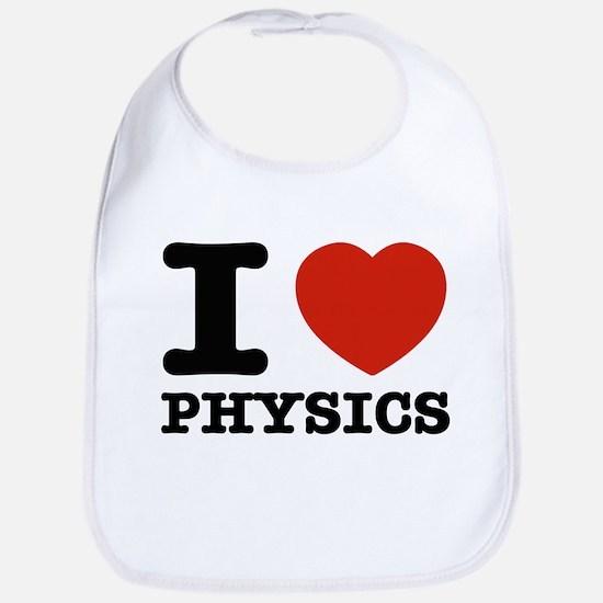 I Love Physics Bib
