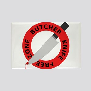 Butcher knife free zone Rectangle Magnet