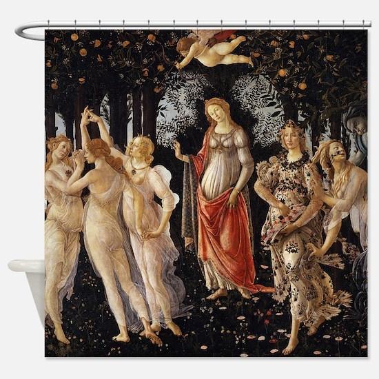 Sandro Botticelli Primavera Shower Curtain