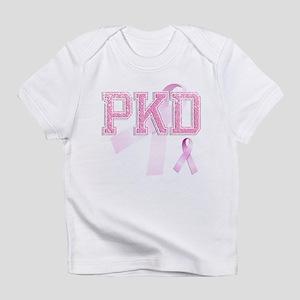 PKD initials, Pink Ribbon, Infant T-Shirt
