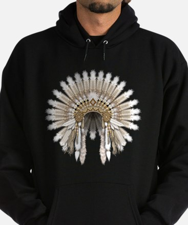 Native War Bonnet 05 Hoodie (dark)