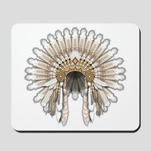 Native War Bonnet 05 Mousepad