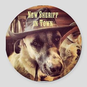 New Sheriff Round Car Magnet