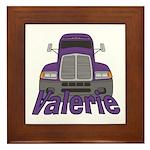 Trucker Valerie Framed Tile