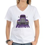 Trucker Vallen Women's V-Neck T-Shirt