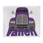 Trucker Vallen Throw Blanket
