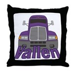 Trucker Vallen Throw Pillow