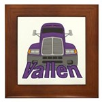 Trucker Vallen Framed Tile
