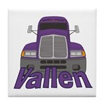 Trucker Vallen Tile Coaster