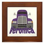 Trucker Veronica Framed Tile