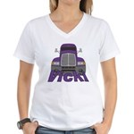 Trucker Vicki Women's V-Neck T-Shirt