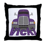 Trucker Vicki Throw Pillow