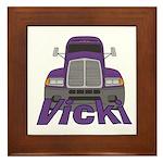 Trucker Vicki Framed Tile