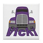 Trucker Vicki Tile Coaster
