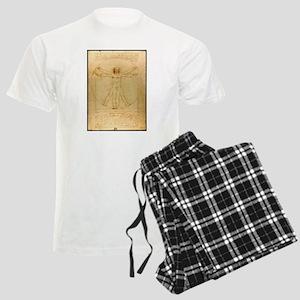 Leonardo Da Vinci Vitruvian Man Men's Light Pajama