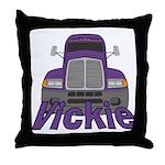 Trucker Vickie Throw Pillow