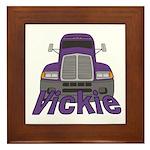 Trucker Vickie Framed Tile