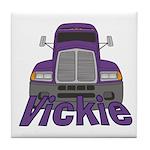 Trucker Vickie Tile Coaster