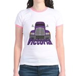 Trucker Victoria Jr. Ringer T-Shirt