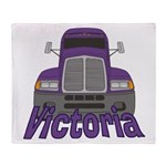 Trucker Victoria Throw Blanket