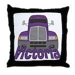 Trucker Victoria Throw Pillow