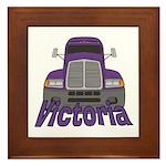 Trucker Victoria Framed Tile