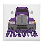 Trucker Victoria Tile Coaster