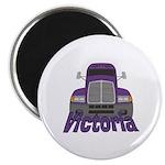 Trucker Victoria Magnet