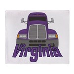 Trucker Virginia Throw Blanket