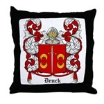 Druck Coat of Arms Throw Pillow