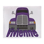 Trucker Vivienne Throw Blanket