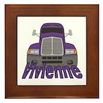 Trucker Vivienne Framed Tile