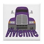 Trucker Vivienne Tile Coaster