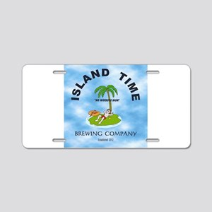 Island Time Brewing Company Aluminum License Plate