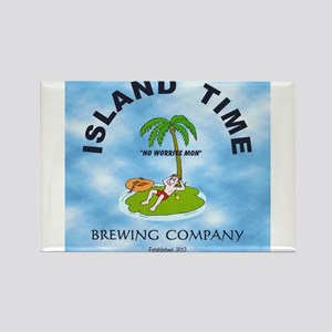 Island Time Brewing Company Rectangle Magnet