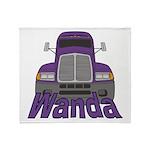 Trucker Wanda Throw Blanket