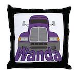 Trucker Wanda Throw Pillow