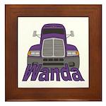 Trucker Wanda Framed Tile