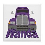 Trucker Wanda Tile Coaster