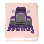 Trucker Wendy baby blanket