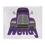 Trucker Wendy Throw Blanket